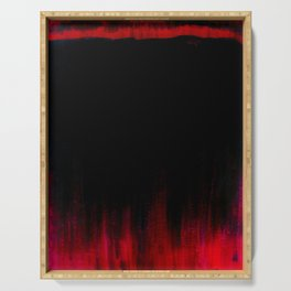 Red and Black Abstract Serving Tray