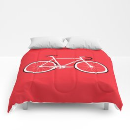 Red Fixed Gear Bike Comforters