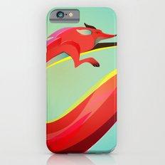 Fox painting the skyline iPhone 6s Slim Case