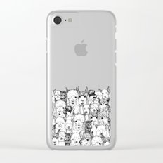 just alpacas black white Clear iPhone Case