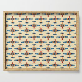 planes pattern1 Serving Tray