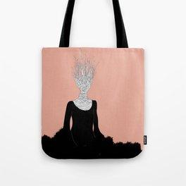 Black Fire Tote Bag
