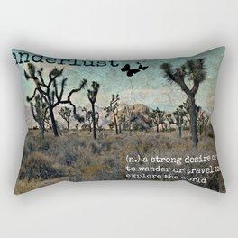 Wanderlust Inspirational Travel Quote  Rectangular Pillow