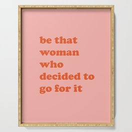 Female Empowerment Entrepreneur Quote Serving Tray