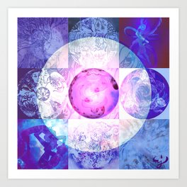 Mandala création 2016 Art Print