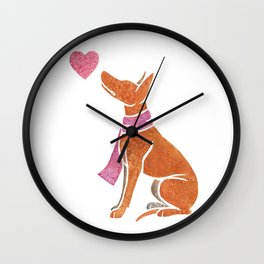 Watercolour Pharaoh Hound Wall Clock