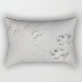 Yellow Stone - Wolf Tracks Rectangular Pillow