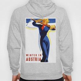Vintage Winter in Austria Travel Hoody