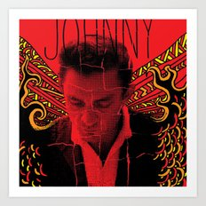Wings of Fire Johnny Cash Art Print