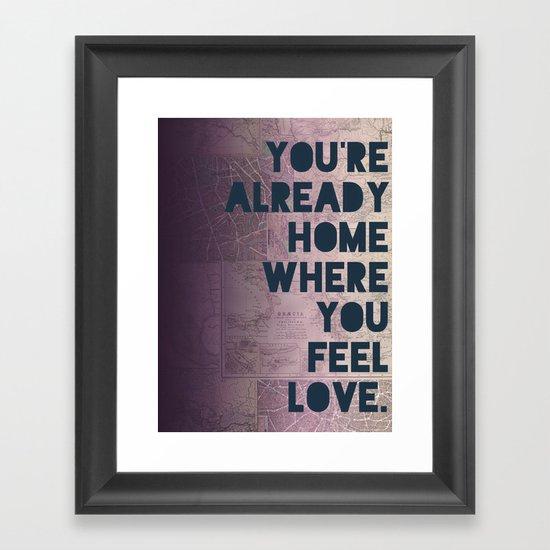 Home II Framed Art Print