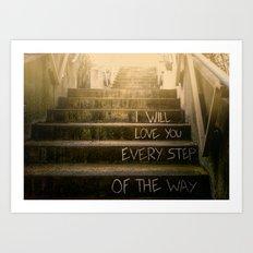 Love Steps Art Print