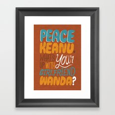 Peace Keanu Framed Art Print