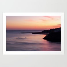 Sunset Albufeira Portugal Art Print