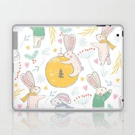 Christmas Rabbits and Ornaments Laptop & iPad Skin
