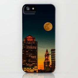 Boston Pink  Moon iPhone Case