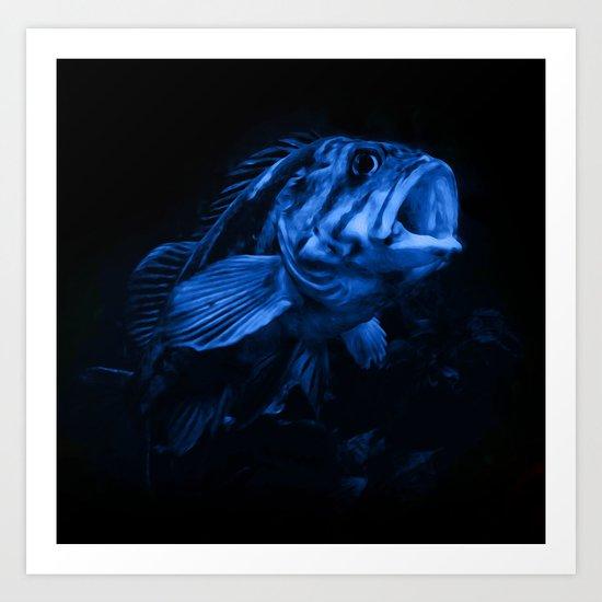 Big Blue Art Print