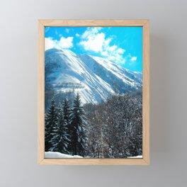 Bright Alpine View Framed Mini Art Print
