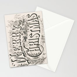 Merry Christmas Vintage Sign Stationery Cards