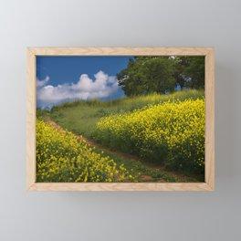 Mustard-covered Meadow Framed Mini Art Print