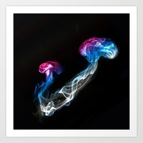 Smoked Jellyfish Art Print