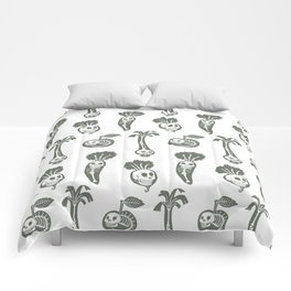 X-rays vegetables (white background) Comforters