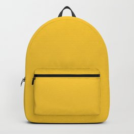 Mellow Mustard Yellow Solid Color Backpack