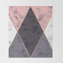 Marble Geometry 018 Throw Blanket