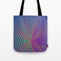SoundWaves Lime/Magenta Tote Bag