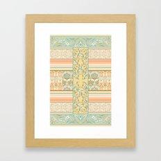 Vintage Stripe Framed Art Print