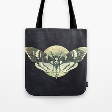 Moth And Moon Tote Bag