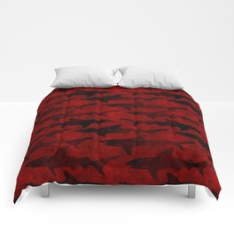 Blood Red Sharks Comforters