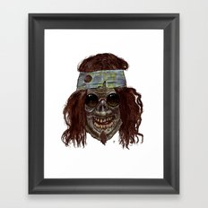 Heads of the Living Dead Zombies: Hippie Zombie Framed Art Print