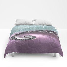 Pink Swirl Comforters