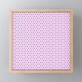 Pink Delicate Flowers Framed Mini Art Print