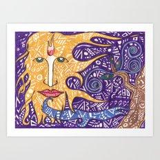 the sun god Art Print