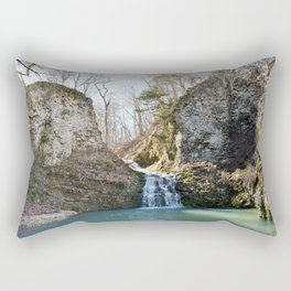 Alone in Secret Hollow with the Caves, Cascades, and Critters, No. 1 of 21 Rectangular Pillow