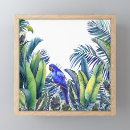 Jungle Macaw parrot Framed Mini Art Print