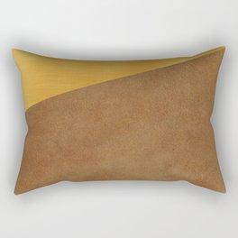 Gold Leather Rectangular Pillow