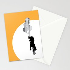 Little Girl With Balloons 2 Stationery Cards