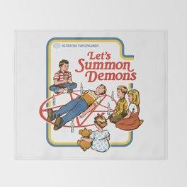 LET'S SUMMON DEMONS Throw Blanket