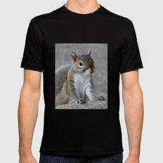 Squirrel Mens Fitted Tee Black MEDIUM