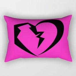 Hot Pink Heartbreak Rectangular Pillow