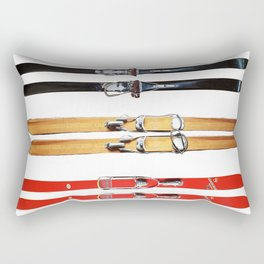 Old School Skis from Crow Creek Coolture Rectangular Pillow