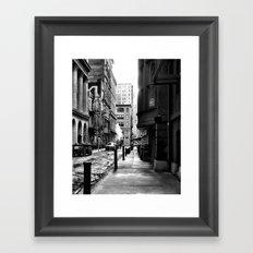 Moravian Street Framed Art Print