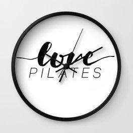 love pilates Wall Clock