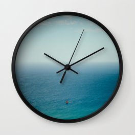 Small Sailboat, Big Ocean Wall Clock