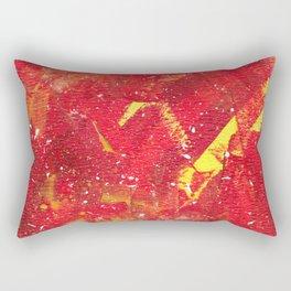 Red Fumes Rectangular Pillow