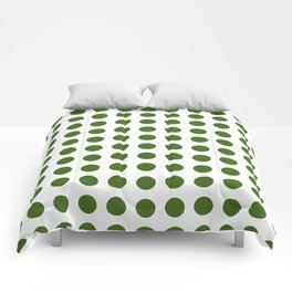 Simply Polka Dots in Jungle Green Comforters