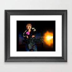 gatling girl Framed Art Print