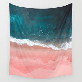 Turquoise Sea Pastel Beach III Wall Tapestry